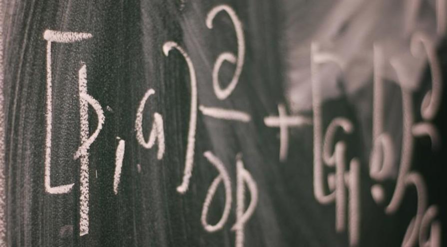 Formulae on a blackboard